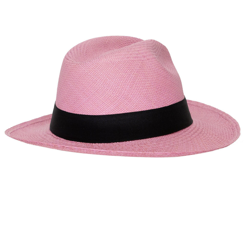 Panama Hat Classic Lilac with Black Band