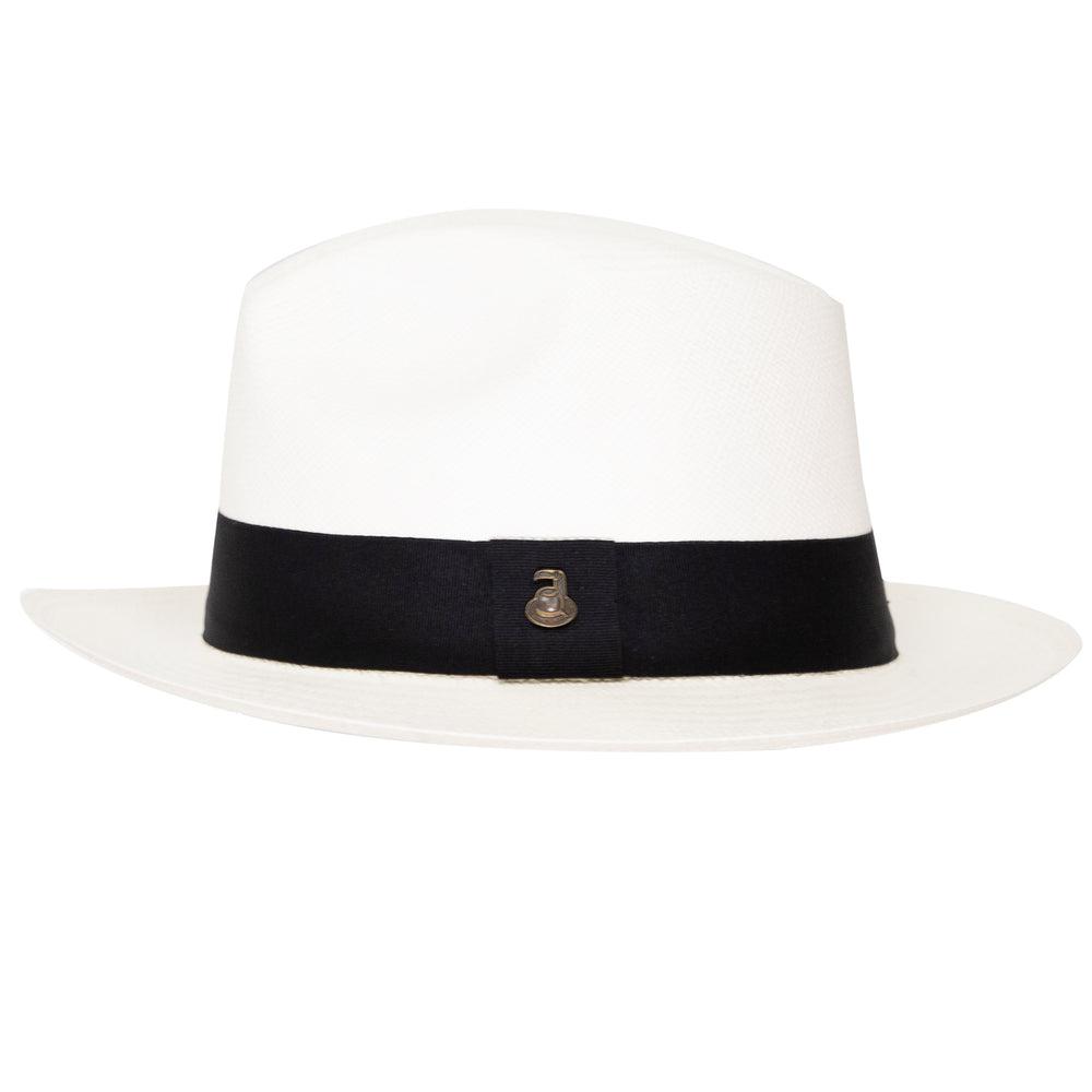 Panama Hat Unisex Classic White with Black Band