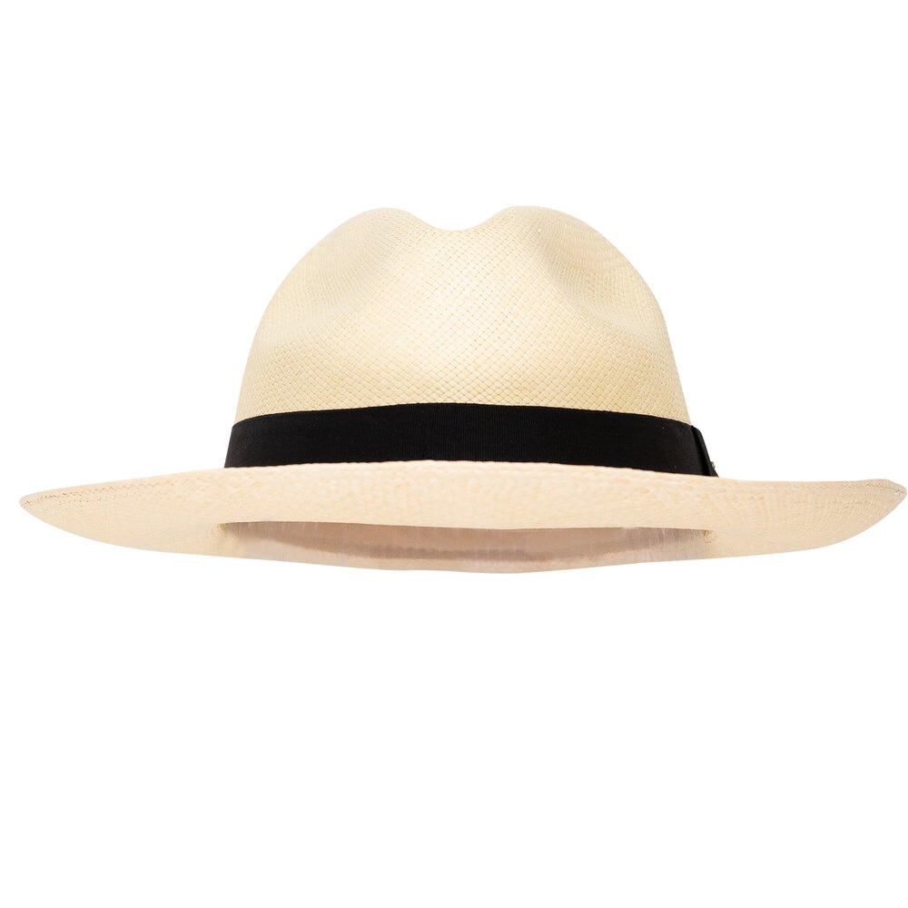 Panama Hat Unisex Classic Natural with Black Band