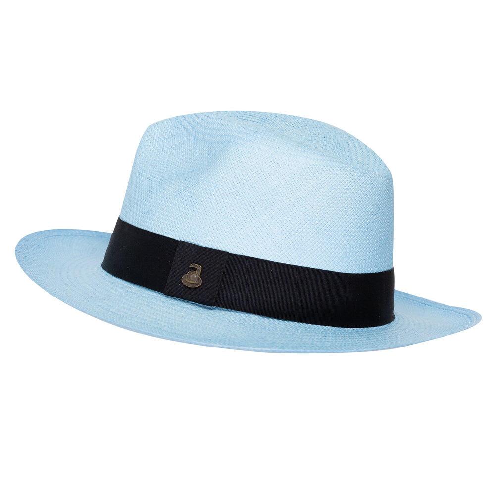 Panama Hat Unisex Classic Light Blue with Black Band