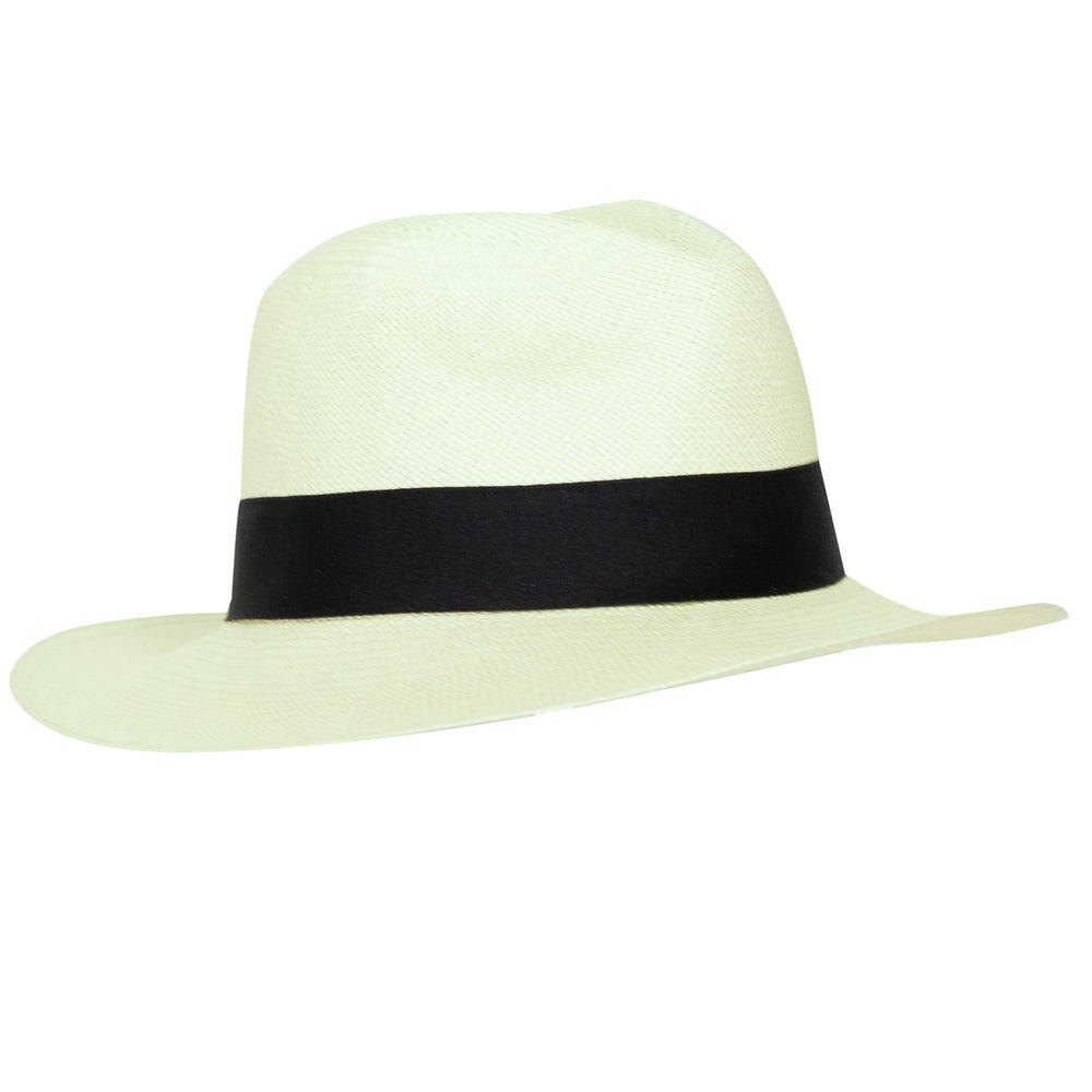 Panama Hat Unisex Classic Light Green with Black Band