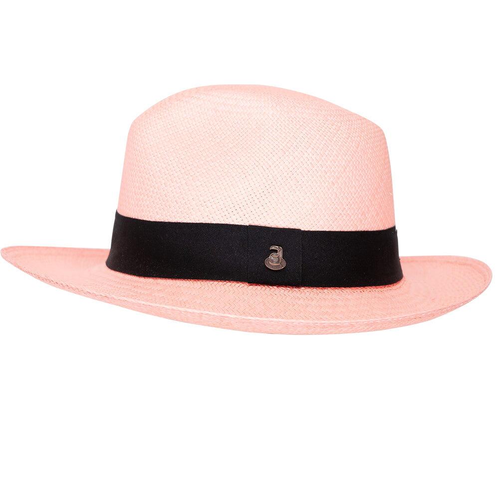 Ladies Panama Hat in Pink