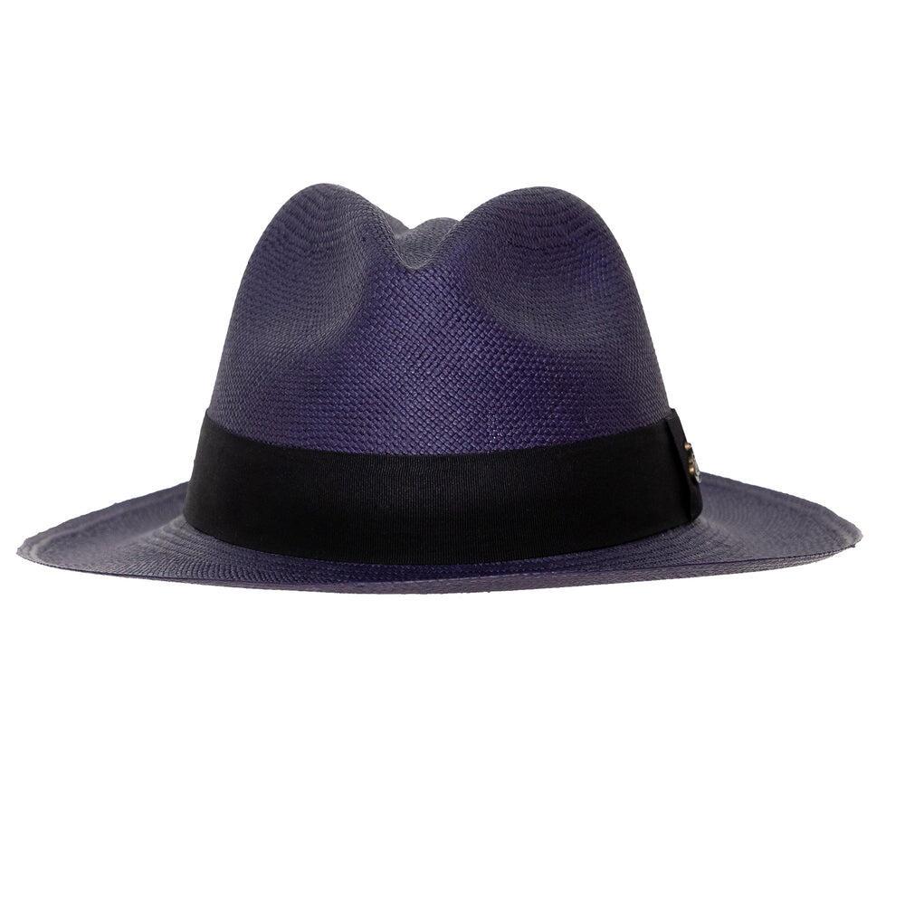 Mens Panama Hat in Navy