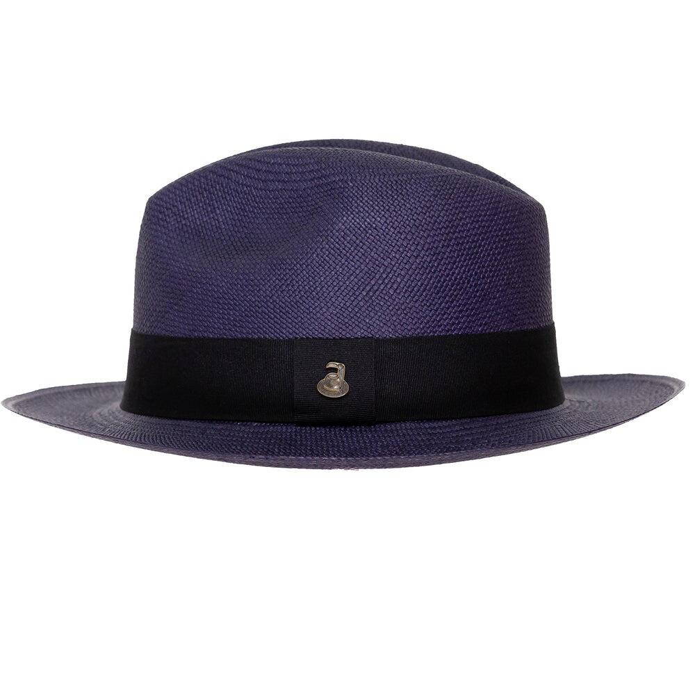 Panama Hat Unisex Classic Navy with Black Band