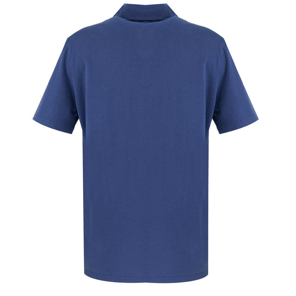 Jersey polo Shirt Regular S/S Block Navy Blue