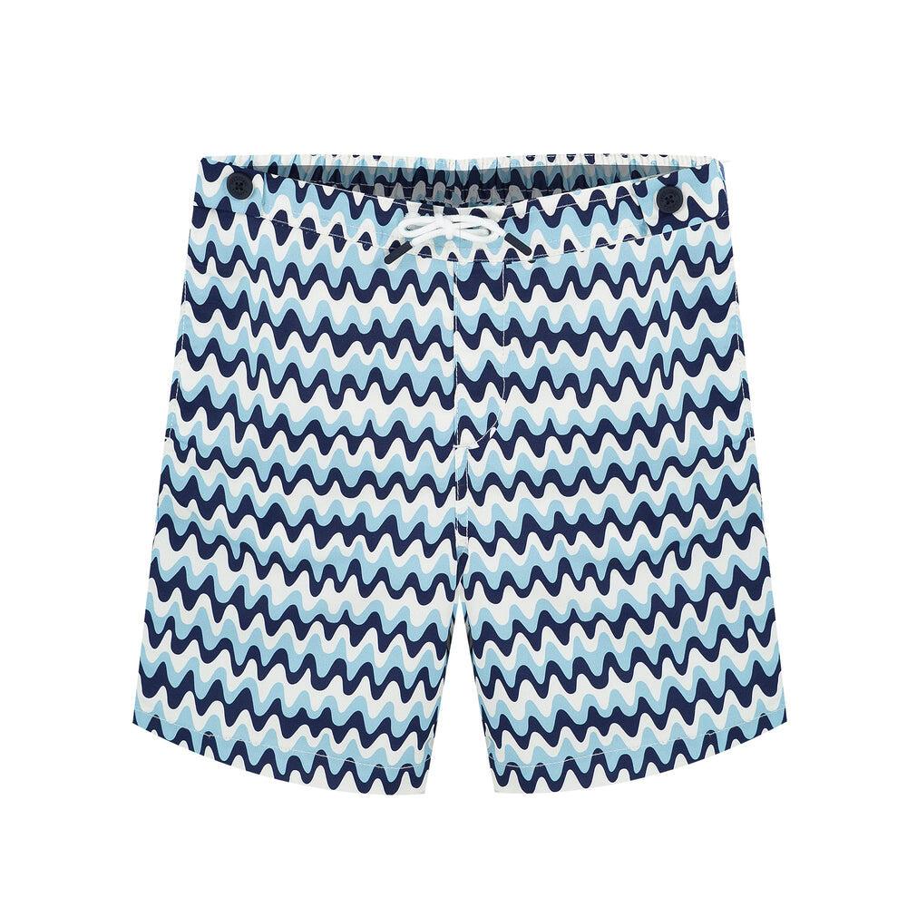 kids swim trunk with blue stripe