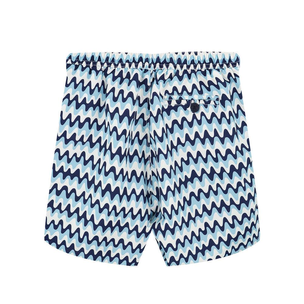 kids designer swim trunks in blue