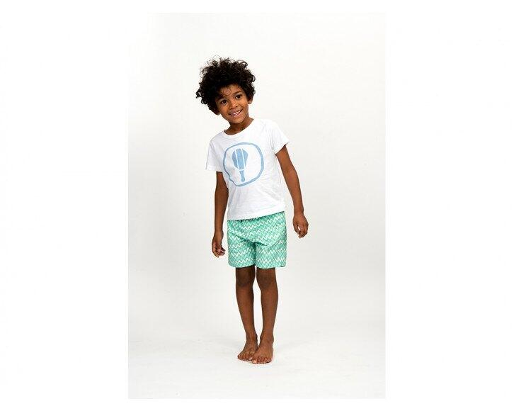 Young Boy Wearing a Kids T Shirt with design