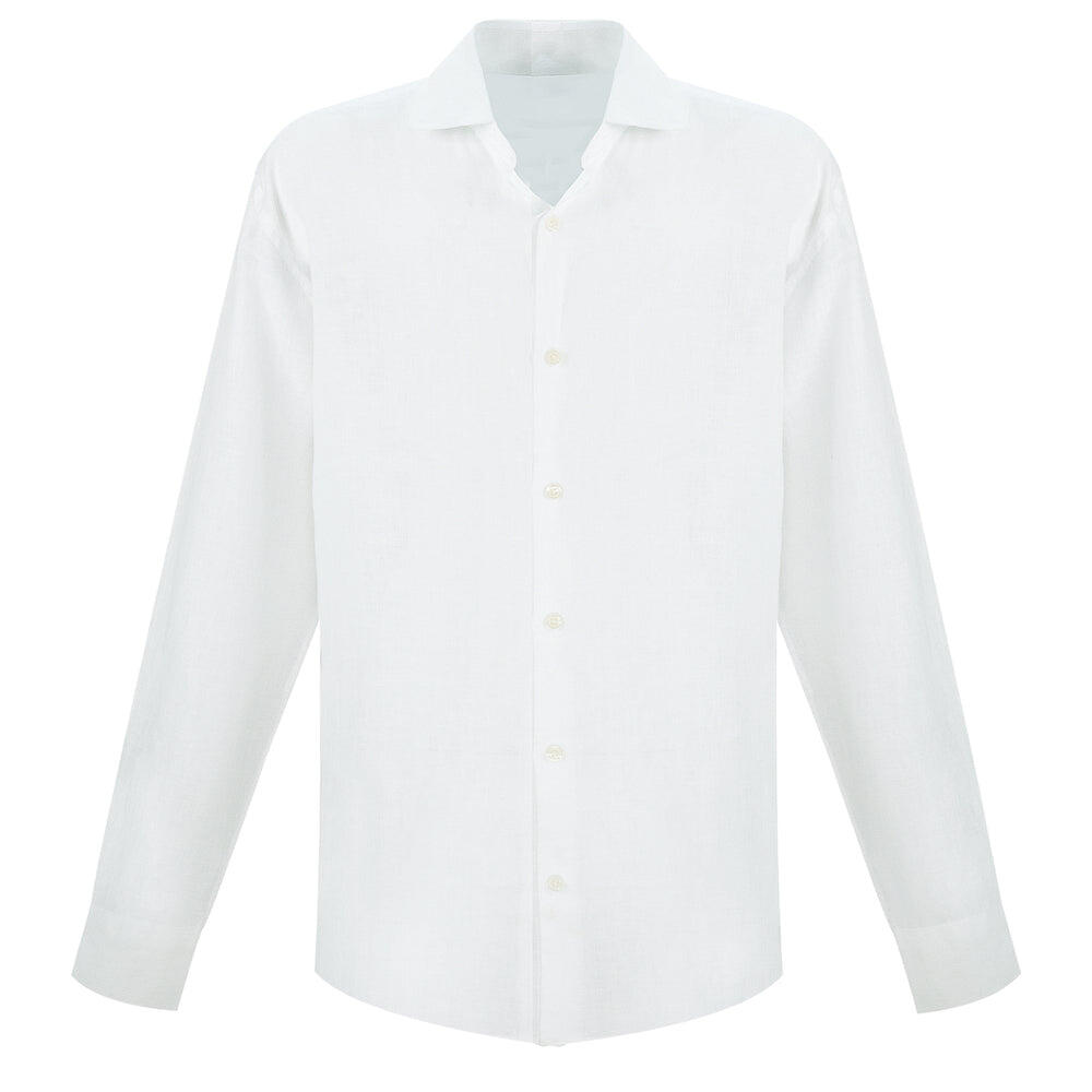 White Long Sleeve Linen Shirt