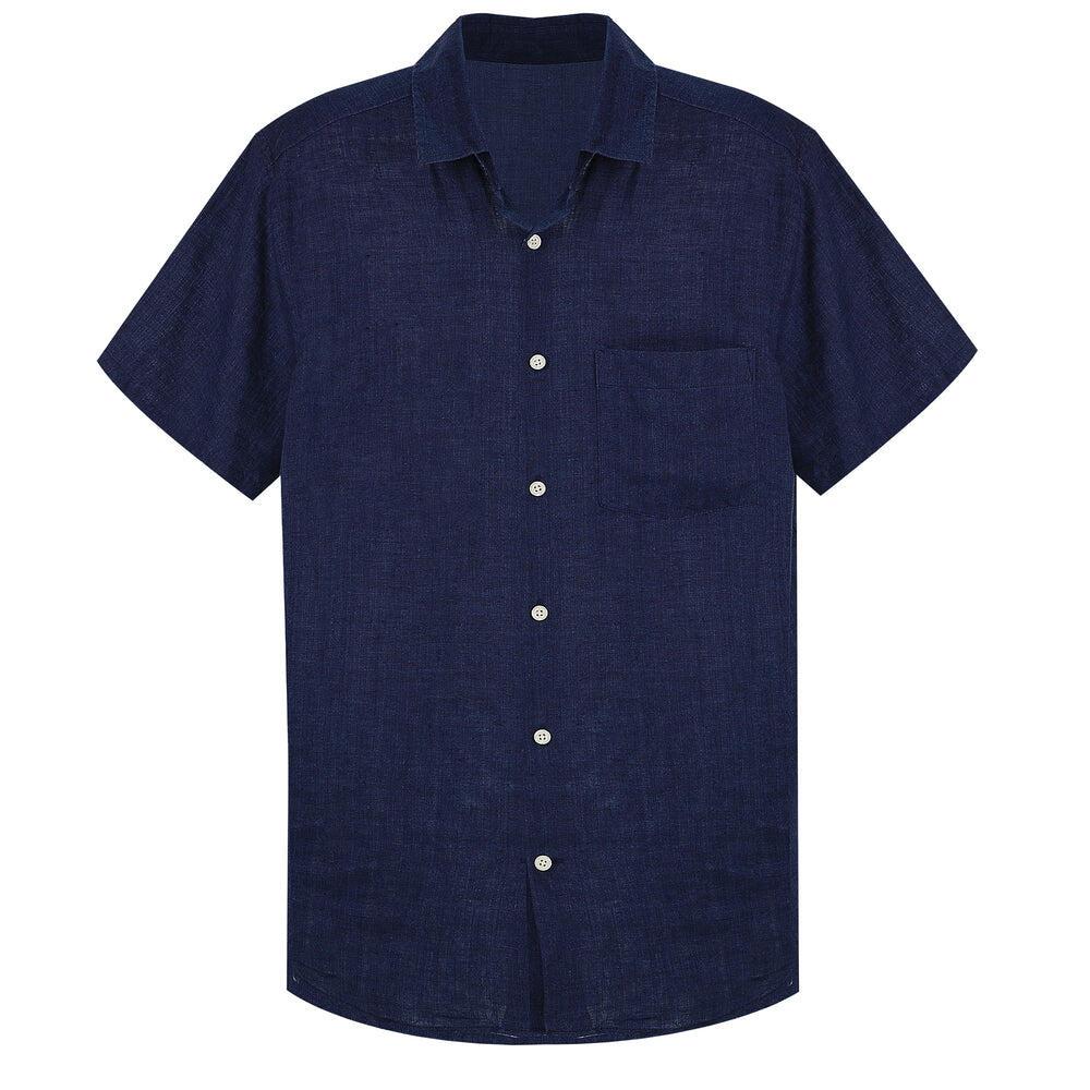 Dark Blue Beach Shirt