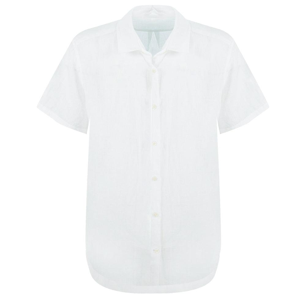 White Summer Beach Shirt for Men
