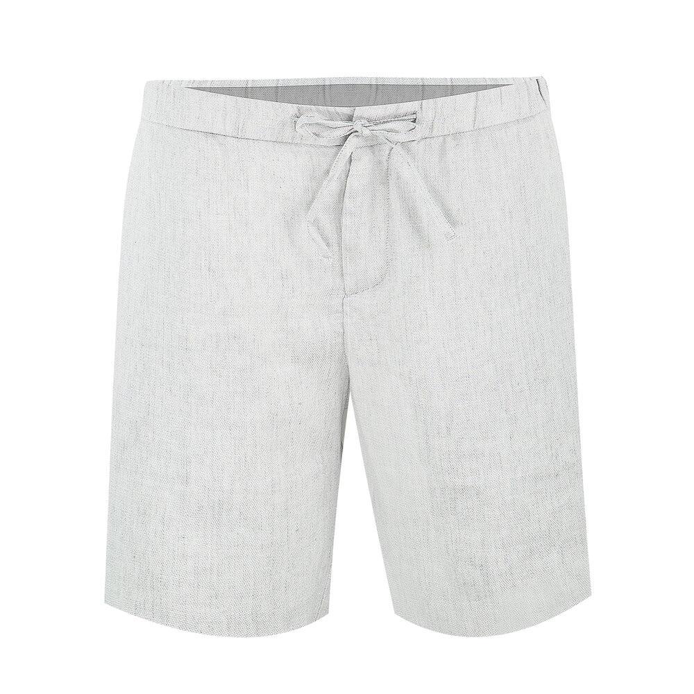 Grey Linen Shorts for Men