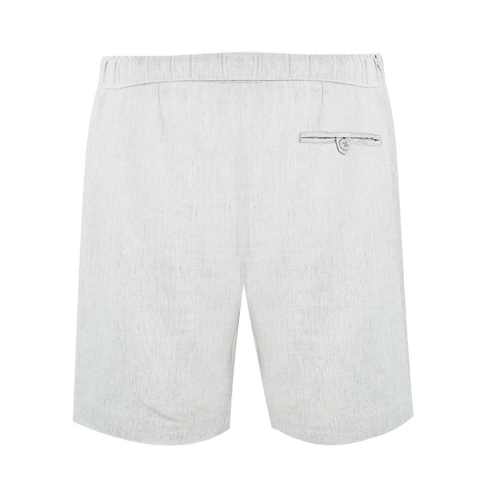 mens grey linen shorts