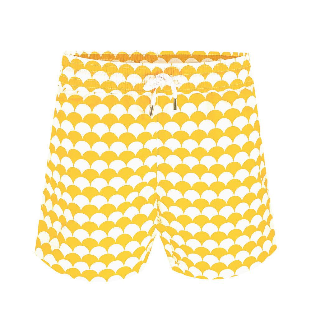 mens yellow swim shorts