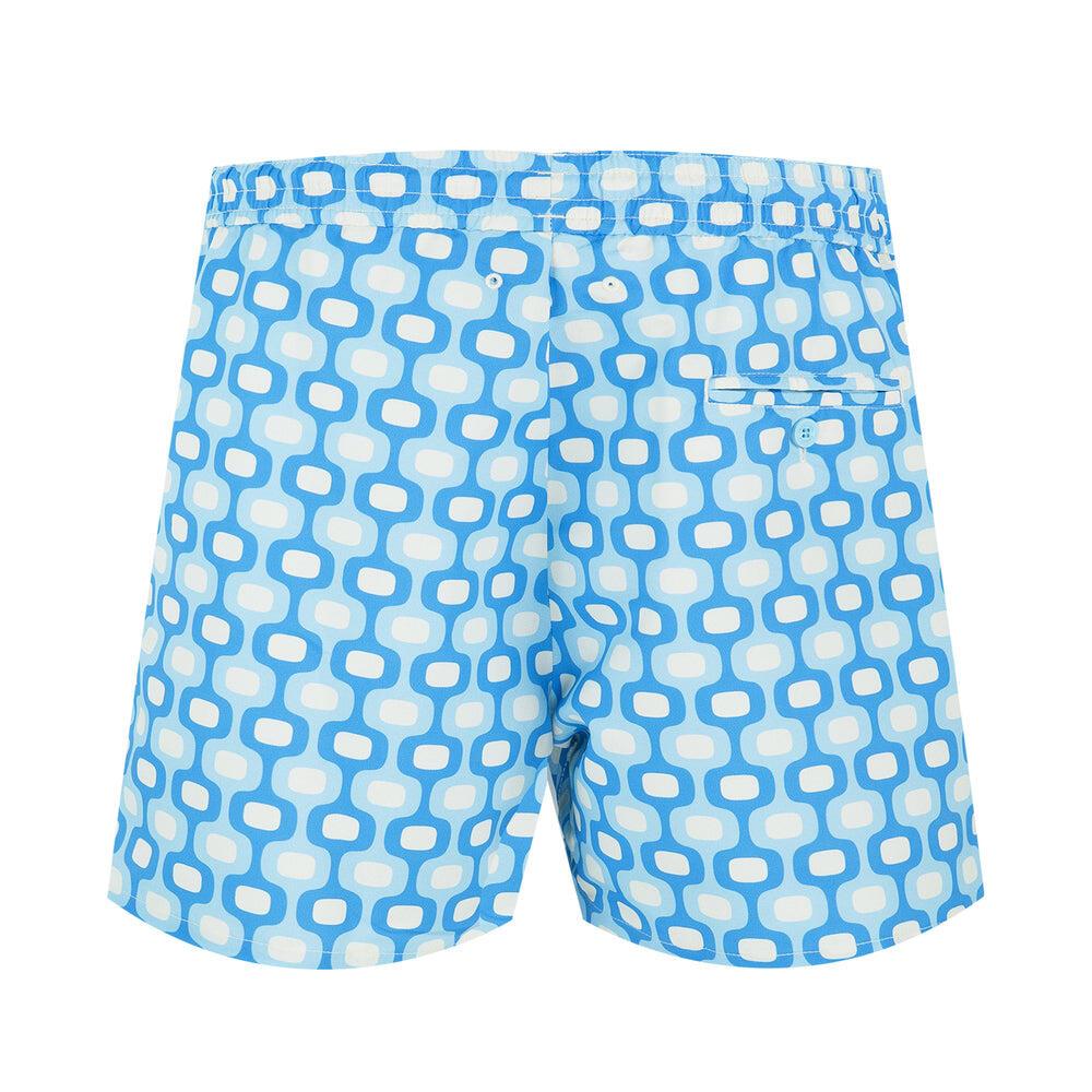 blue fashion swim trunks
