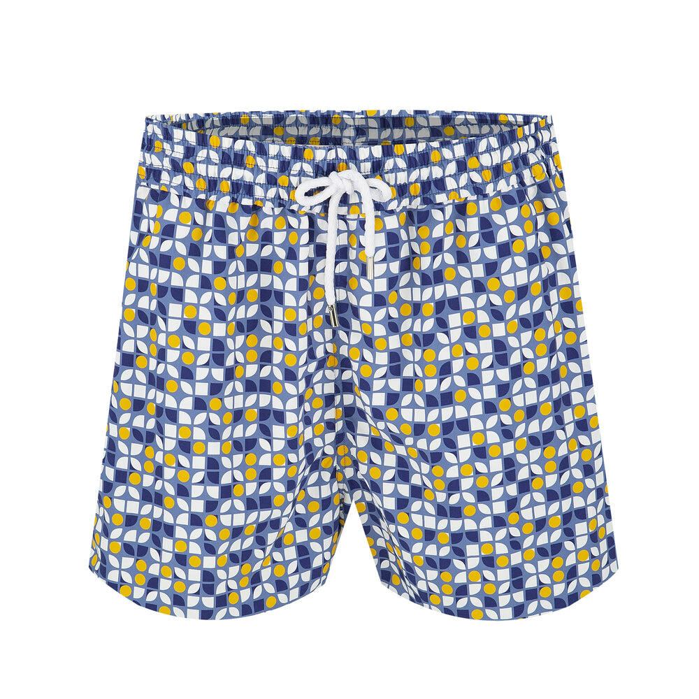 Mosaic Print Mens Board Shorts