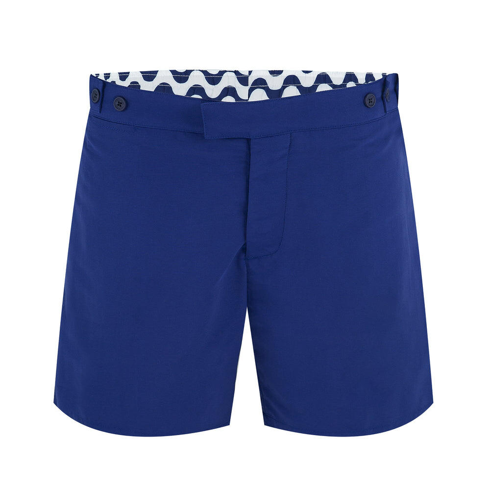 Tailored Fit Swim Shorts in Navy Blue