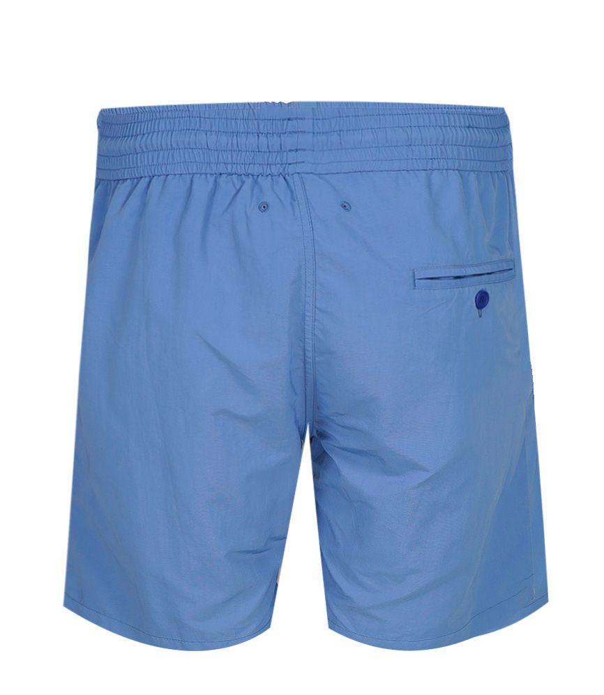 Mens Long Blue Swim Shorts