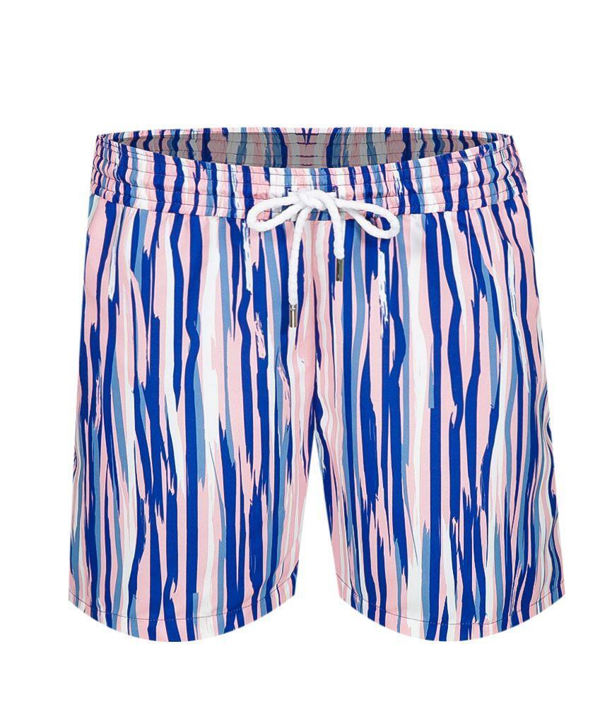 Mens Quick Dry Swim Shorts in Pink