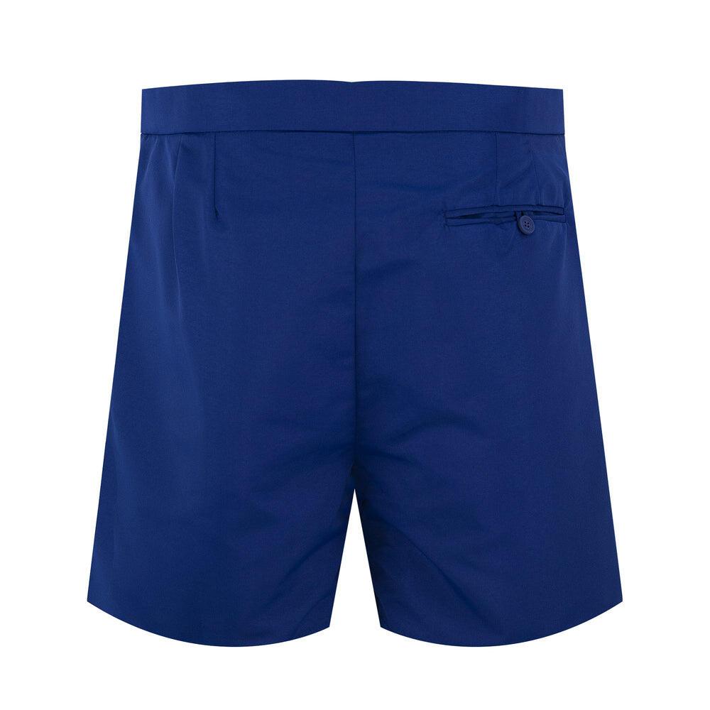 mens navy blue tailored swim trunks