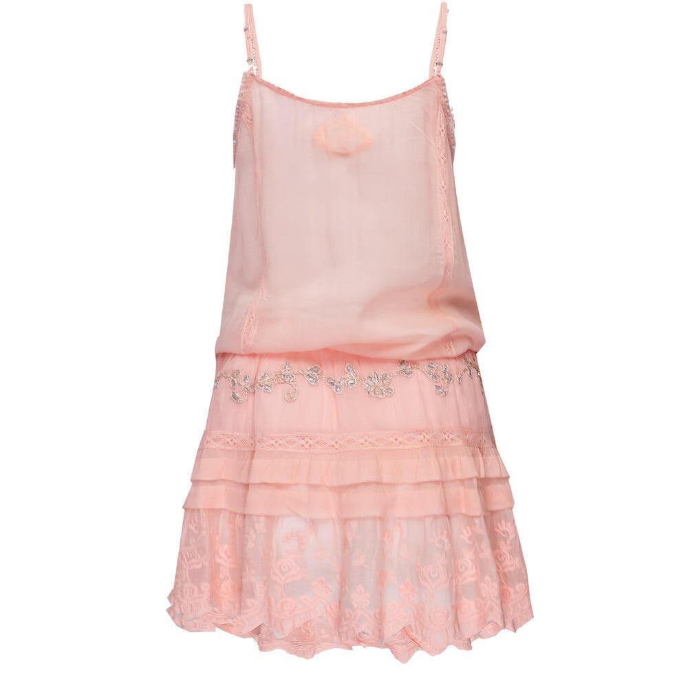 Dress Strapp Diva Peach/Silver
