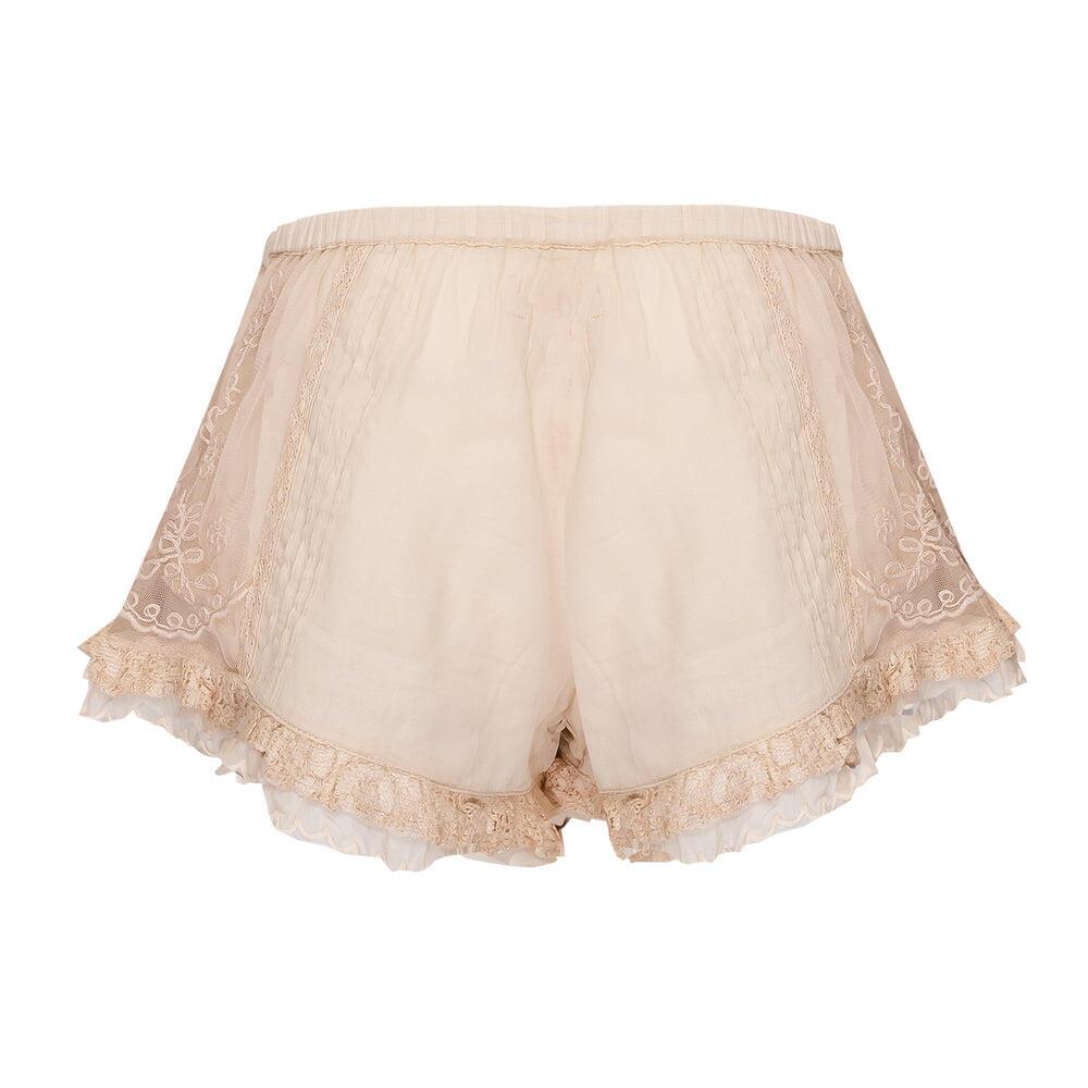 Pants Short Net Ecru