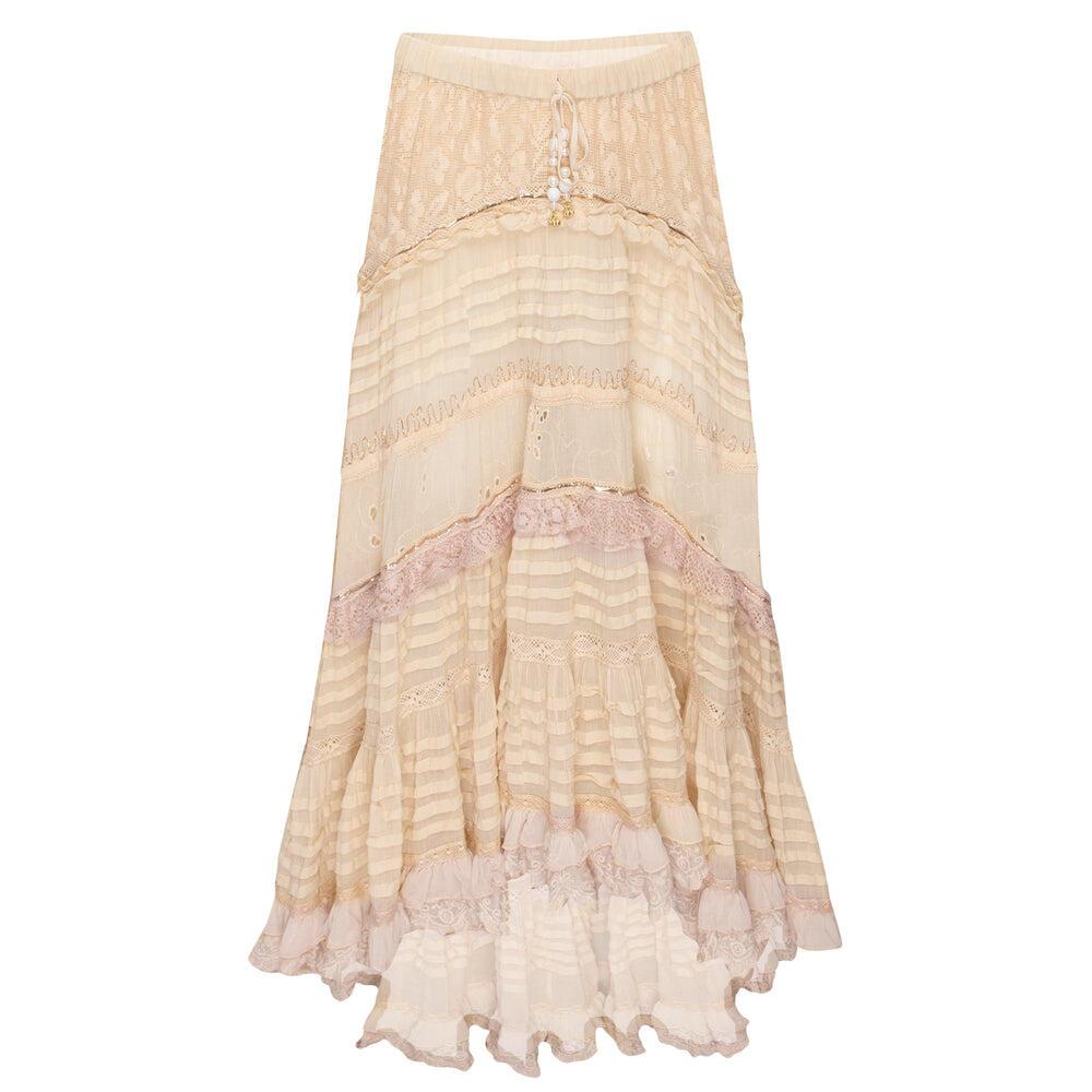 Skirt Long Boila Ecru/Ecru