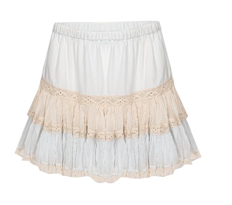Skirt Short Frill Light Blue