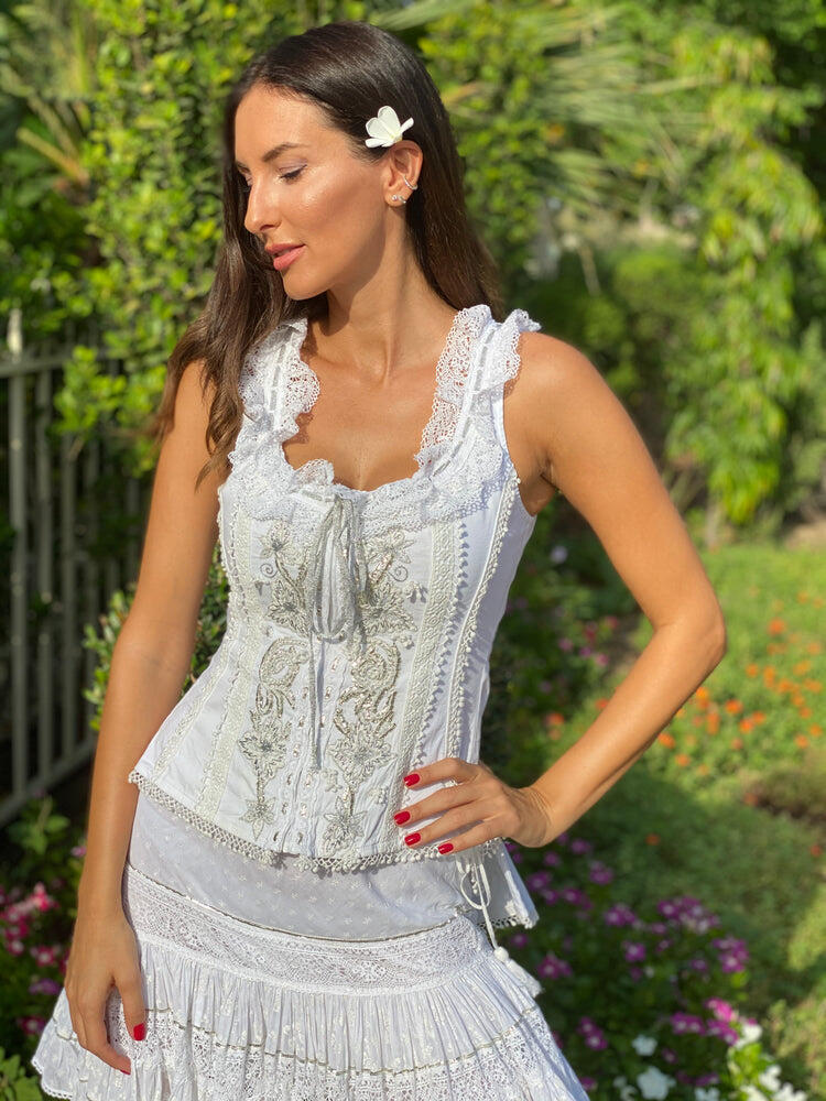 Bustier Rosal New White/Silver