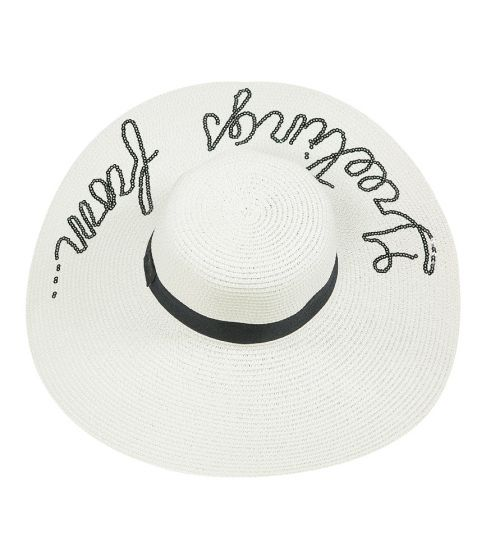 Greetings From Floppy Hat White