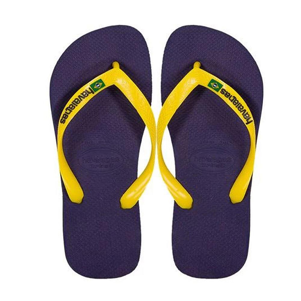 Havaianas Kids Brasil Logo Navy Blue/Yellow
