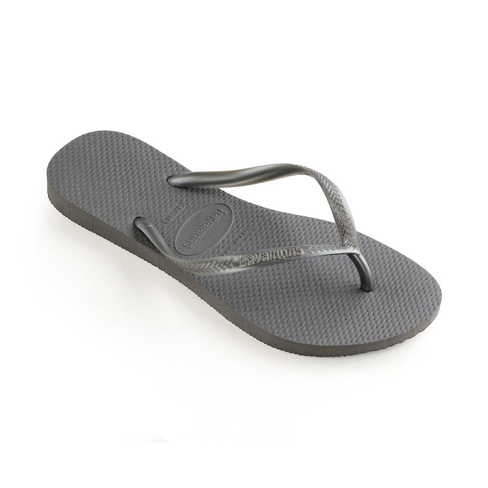 Slim Flip Flops Steel Grey