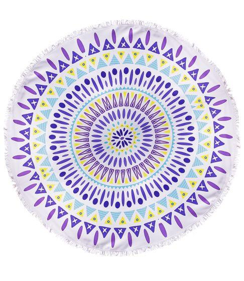 Honey Bee Tribal Round Towel
