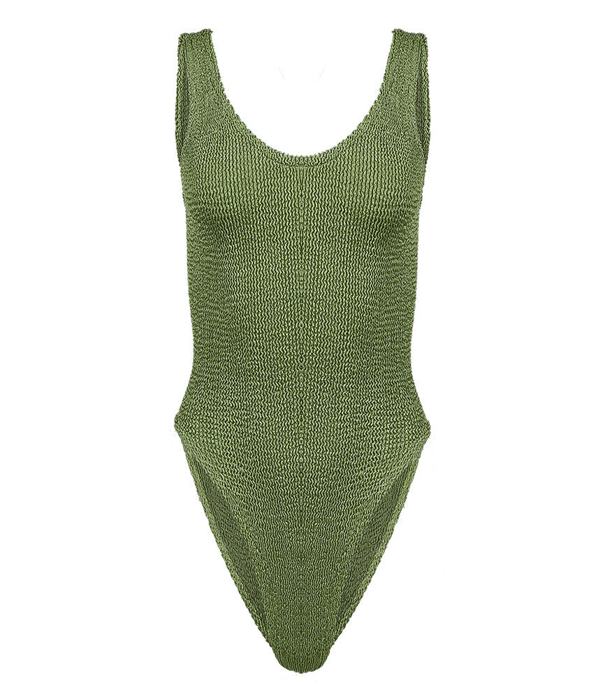 Jeanne Onepiece Metallic Moss Green
