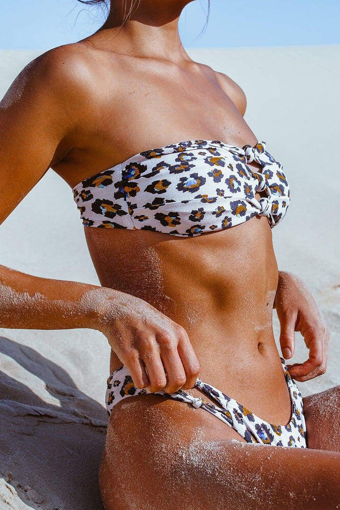High Cut Bikini Bottom Leopardo