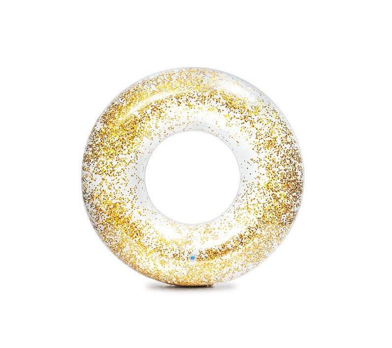 Transparent Sparkling Glitter Rings Gold