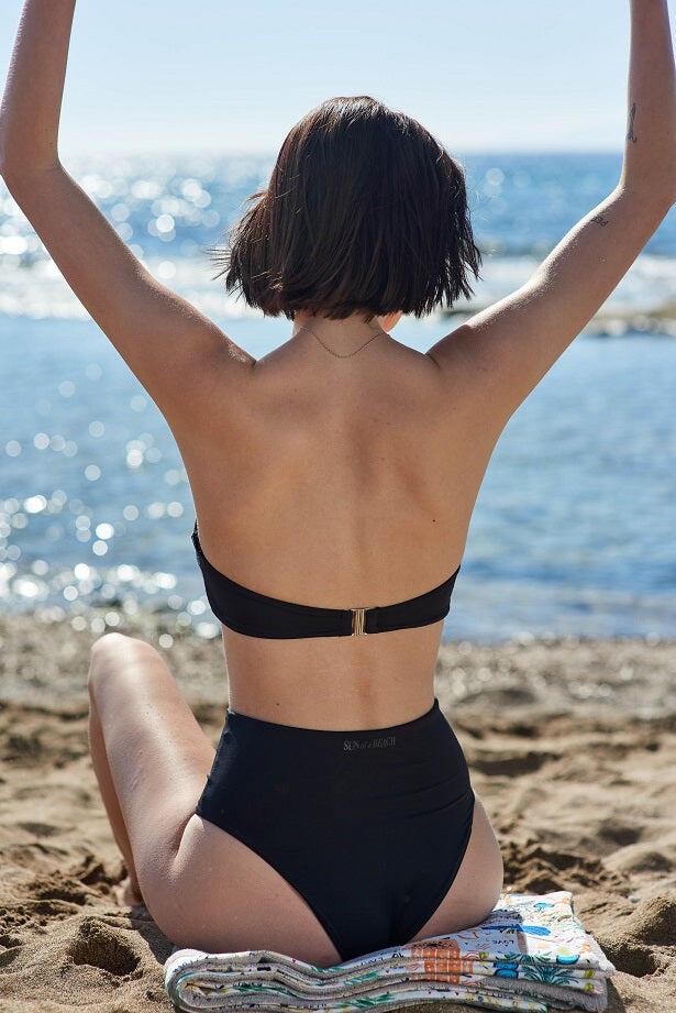 Just Black High Rise Bikini Bottom