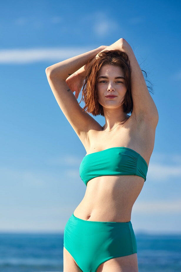 Just Emerald High Rise Bikini Bottom