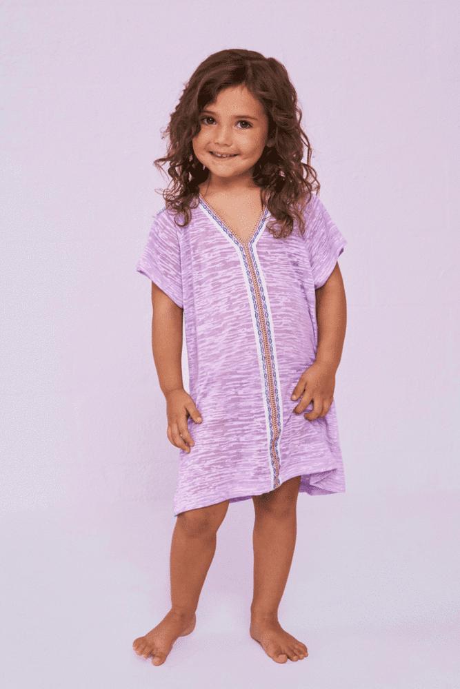 Kids Abaya Lavender