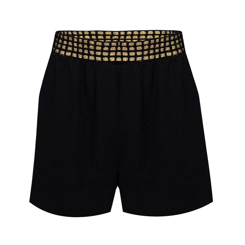High Waisted Shorts Crepe Black