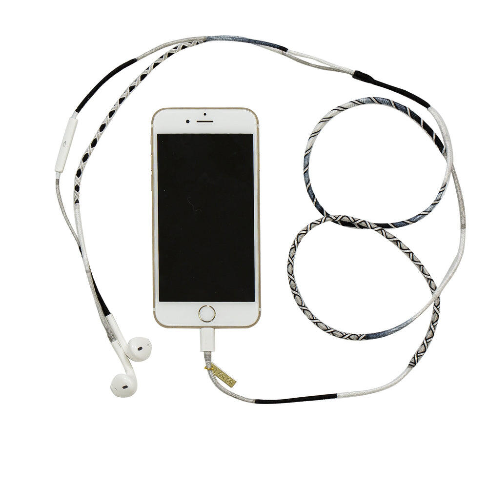 Black & White Earphones