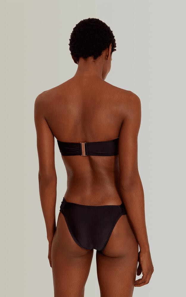 Drop Bandeau Bikini Top Black