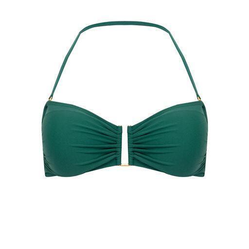 Drop Bandeau Bikini Top Green