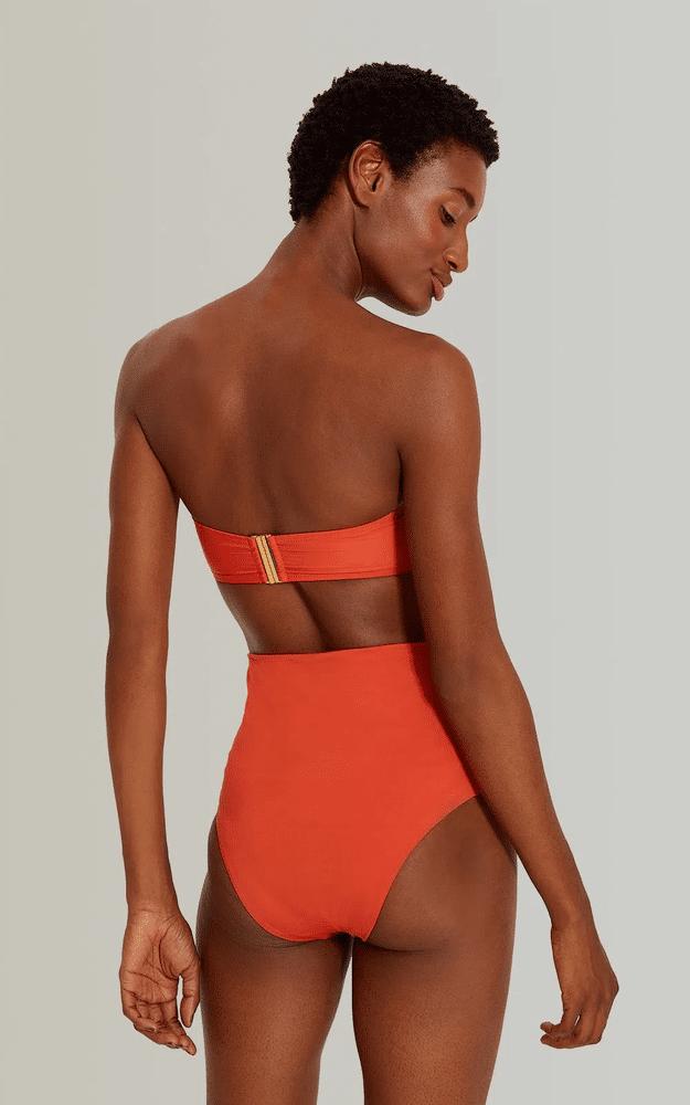 Drop Bandeau Bikini Top Mars