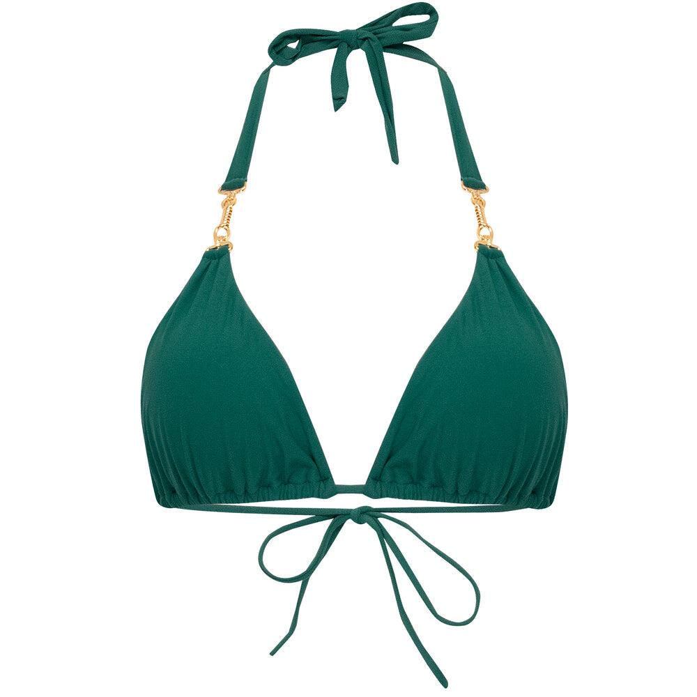 Hardware Halter Bikini Top Green
