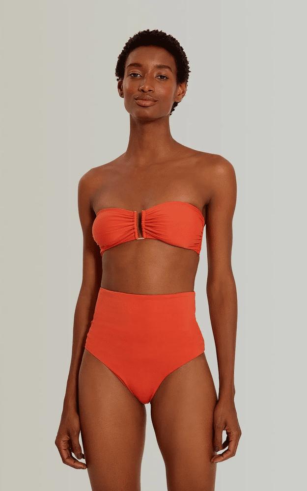 High Waist Bikini Bottom Mars