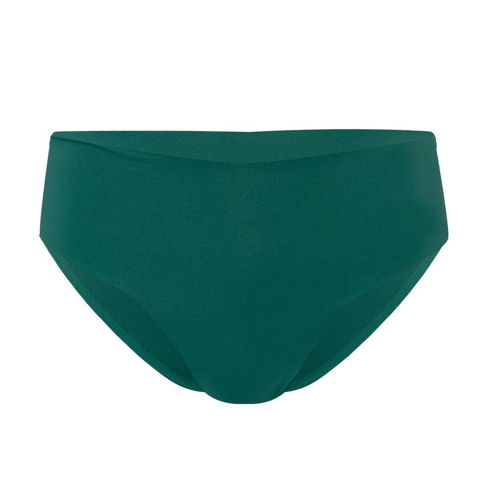 Midi High Waist Bikini Bottom Green