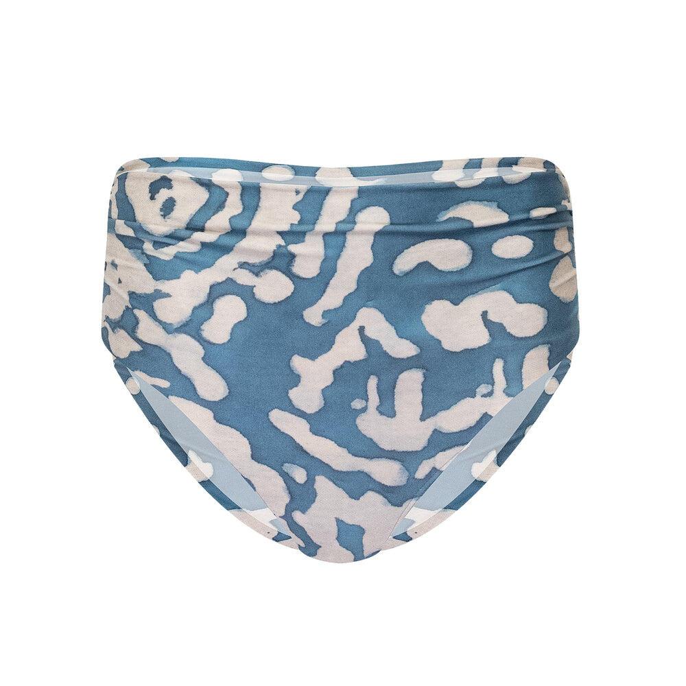 Otoman Ruched High Waist Bikini Bottom