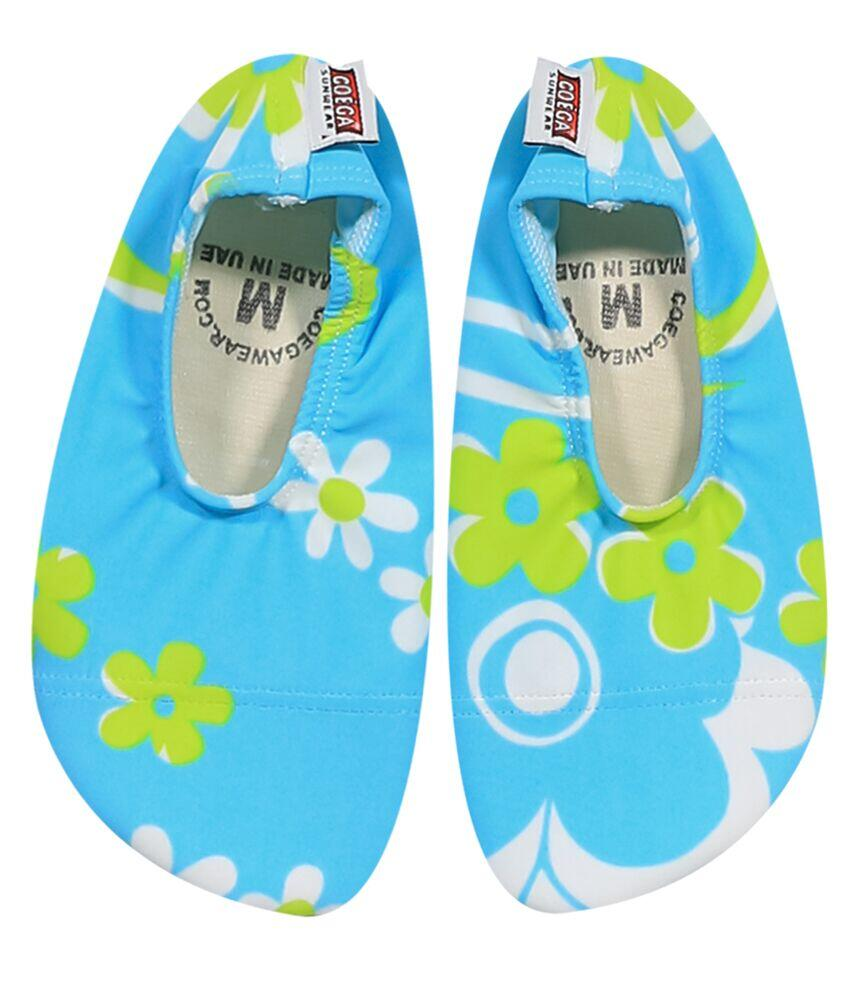 Coega Floral Light Blue Pool and Beach Shoes