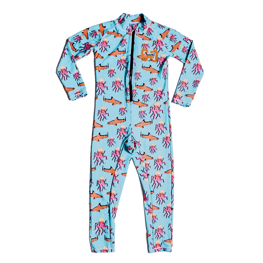 Long Sleeve Sunsuit For Toddlers & Children